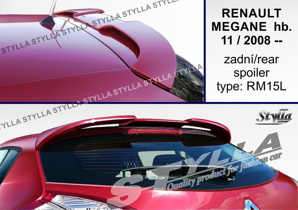 Spoiler na tylną klape górny, Renault Megane III, 2008-2016